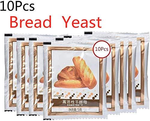 Dettelin 10 Piezas de levadura de Pan, levadura Seca Activa, Alta tolerancia a la glucosa, Suministros para Hornear en la Cocina, 50 g de levadura para Hacer Pan