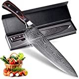 8 Inch Professional Chef Knife, Pro Sharp Kitchen Knife, German High Carbon Stainless Steel Knife...