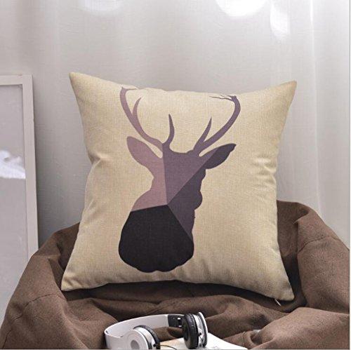 Longless Résumé des motifs géométriques caricature oreiller oreiller matelas canapé élégant kit kit linge de maison oreiller