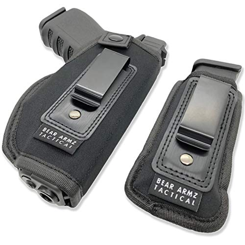 Universal IWB Holster for Concealed Carry | American Company | Inside The Waistband | Compatible with Sig Sauer | S&W M&P Shield | GLOCK 19 26 27 30 43 | Springfield XD XDS/Ruger LC9 & Similar Pistols