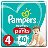 Pampers - Baby Dry Pants - Couches-culottes Taille 4 (8-15 kg) - Pack Géant (x40 culottes) culottes)