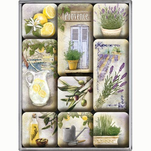 Nostalgic Art Magnet-Set 9-teilig, Home & Country - Mediterranean
