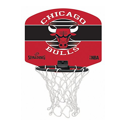 Spalding NBA Miniboard Chicago Bulls 77-649Z Minicanasta, Unisex, Multicolor, Talla Única