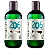 Naissance Organic Cold Pressed Virgin Hemp Seed Oil (no. 206) 2x250ml (500ml) - Certified Organic, Vegan, Unrefined. Rich in Omega 3, 6 and 9