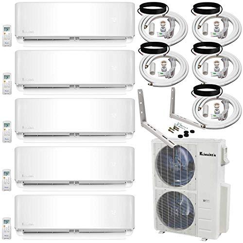 Klimaire 5 Zone Inverter Air Conditioner Multi Split Heat Pump (12K+12K+12K+12K+12K) btu