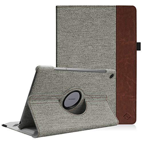 Huawei Mediapad M5 10.8 / M5 10.8 Pro Hülle - Schlank 360 Grad Rotierend Stand Schutzhülle mit Auto Schlaf/Wach Funktion für 10.8 Zoll Huawei MediaPad M5 2018 Modell Tablet PC, Denim grau