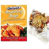 24 bolsas para asar pavo, carne y pollo, bolsas para cocinar en horno de 25 x 38cm marca Sealapack