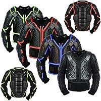 REXTEK Armadura para cuerpo de motocicleta para niños, protección para niños aprobada por la CE