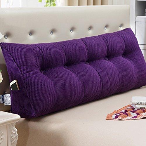 Fu Man Li Trading Company Coussin d'oreiller double au couvre oreiller A+ ( Couleur : Violet , taille : 90*22*50cm )