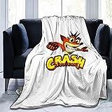 Crash Bandicoot - Manta de dibujos animados en 3D (A6, 130 x 150 cm)