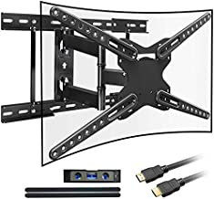 Everstone TV Wall Motion full motion Swivel Bracket,for 28-70 inch LCD LED CURVED OLED Plasma Flat Screen TVs,16