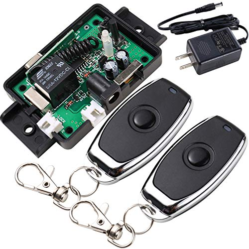 UHPPOTE 433mhz 12VDC Remote Control with DC Power Connector Specially Applied to Access Control Lock