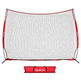 McHom 12ft x 9ft Sports Barrier Net | Backstop for Baseball, Softball, Soccer, Basketball, Lacrosse and Field Hockey | Collapsible and Portable