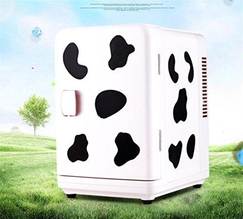 AMYMGLL 6L de grande capacité voiture réfrigérateur portable et matériaux automobiles ABS tension 12V voiture 220V maison puissance 50 (W) poids 3.6kg taille 30 * 19.5 * 25 * cm , white