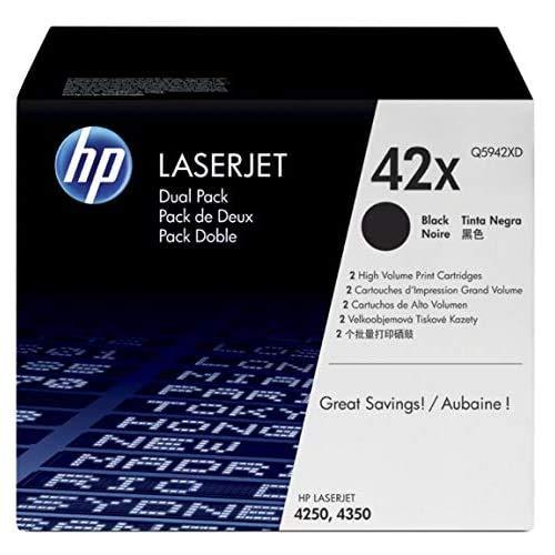 HP 42X | Q5942XD | 2 Toner Cartridges | Black | High Yield