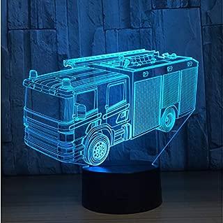 Luz Nocturna Coche De Bomberos Coche Lámpara 3D 7 Colores Led Lámpara De Noche Para Niños Touch Led Usb MesaBaby Sleeping Nightlight
