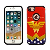 iPhone 6s PLUS Case, IMAGITOUCH 2-Piece Style Armor Case with Flexible Shock Absorption Case and DC Comics Wonder Woman Cover for 5.5' iphone 6 PLUS / 6s PLUS – Wonder Woman Hybrid