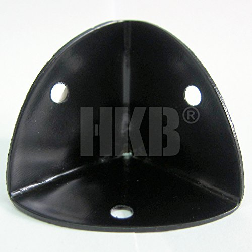 HKB ® Kistenecke Möbelschutz 36x36x36mm Stahl schwarz lackiert, runde Kanten, für 3mm Schrauben, 9184430