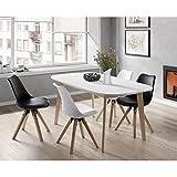 NAISS Table a manger extensible de 6 a 8 personnes scandinave pieds bouleau massif +...