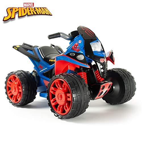 INJUSA - Quad The Beast Spider-Man Batterie 12V zugelassen mit Fußbeschleuniger und Gummibändern auf Rädern