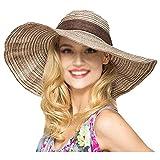 La Haute - Sombrero de paja para mujer, diseño vintage de r