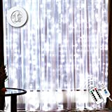12 Drops Curtain Lights - Waterproof 300 LEDs Curtain String Light with 16 ft USB Wire -...