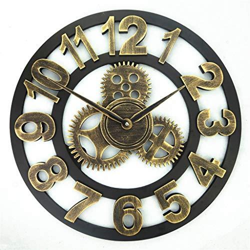 ZQQBRZXFT Cuarzo de Pared Silencioso Creativo Vintage Reloj De Pared De Madera...