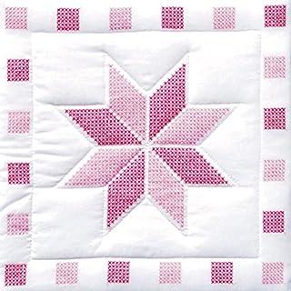Jack Dempsey Needle Art 732315 XX Star 6-Quilt Block, 18-Inch by 18-Inch, White