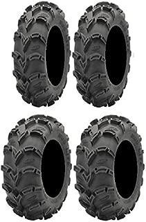 Full set of ITP Mud Lite XL 27x9-12 and 27x10-12 ATV Tires (4)