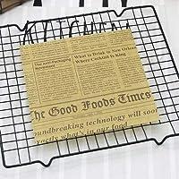HANGQINGHENG 25Pcs /ロットOilpaper包装紙のためにパンのサンドイッチバーガーフライドポテト/食品グレードワックスペーパーベーキングツールキッチンガジェット3サイズ (Color : E 18x18cm)