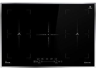KKT KOLBE Plaque de cuisson à induction 77cm / Autarkic / 9,7kW / 9 marches / 5 zones / 2 zones flexibles/cadre en acier i...