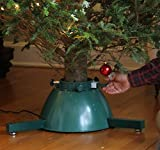 Elf Logic - Automatic Rotating Christmas Tree Stand with Remote Control Lights - (Motorized Rotating Display Tree Stand Accessories for Live Christmas Trees)
