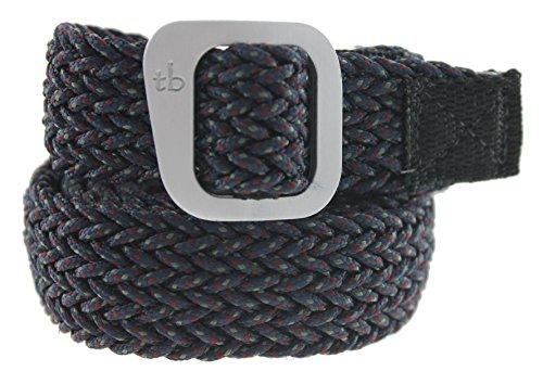 Dakota Paracord Belt Made in the USA by Thomas Bates (Small, Navy)