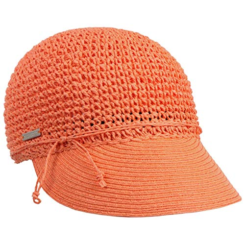 Seeberger Gorra Uni Rollable Crochet de Verano Mujer (Talla única - Naranja)
