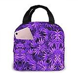 Bolsa de almuerzo de hojas de marihuana para mujeres, niñas, niños, bolsa de picnic aislada, enfriador térmico, bolsa grande para preparación de comidas, bonita bolsa grande a prueba de fuga
