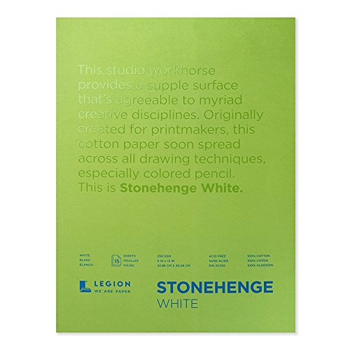 Legion Stonehenge Pad, 9 X 12 inches, White, 15 Sheets