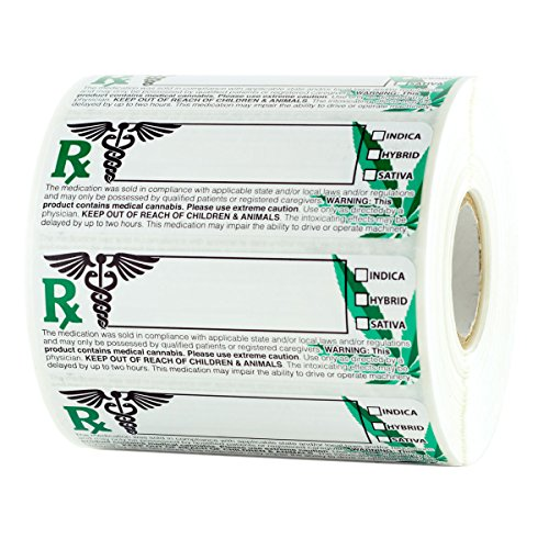 Dragon Chewer Generic Medical Identification Labels - Universal Compliant Leaf Stickers 3x1 - 1,000 pc Roll
