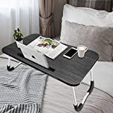 Holiper Bed Desk Laptop Tray, Foldable and Portable Small Table for Laptop and Writing in Bed Sofa Floor