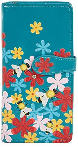 Shagwear portafoglio per giovani donne, Large Purse : Diversi colori e design: (Giardino dei bombi/Bumble Bee Garden)