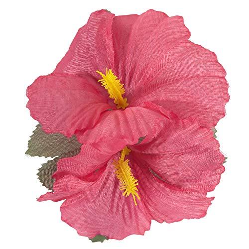 Widmann 2 Pink Hibiscus Flowers Hair Clips