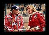 James Hunt & Niki Lauda Signiert und gerahmt Foto
