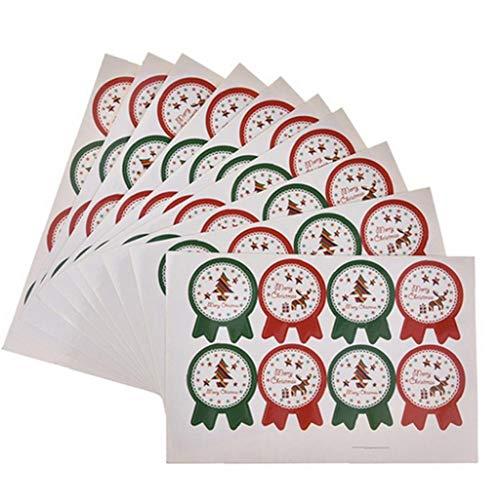 Pegatina Feliz Navidad Galletas Marca ZYCX123
