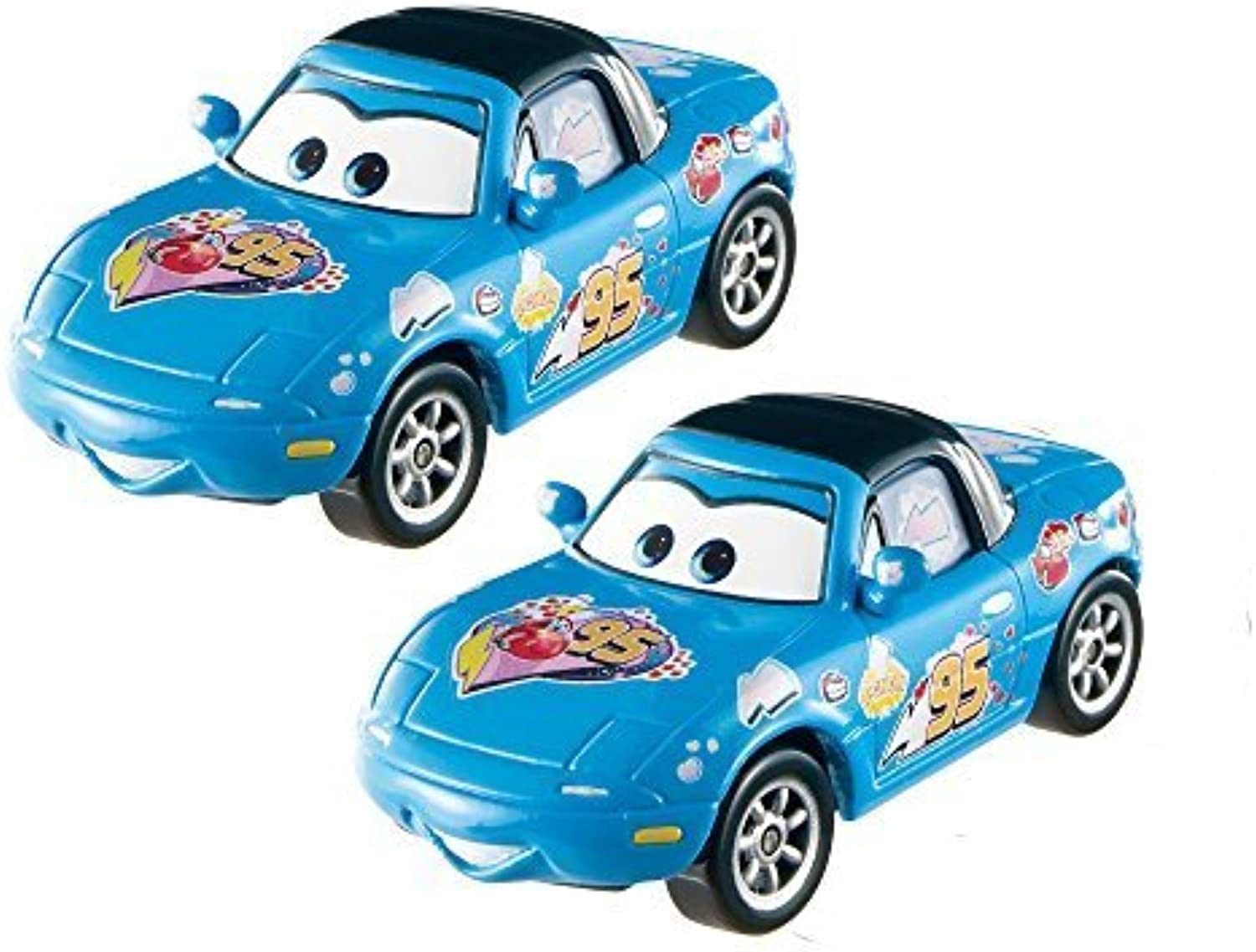 Disney Pixar Cars Diecast Character Dinoco Mia & Tia Vehicle (2 Pack) by Mattel