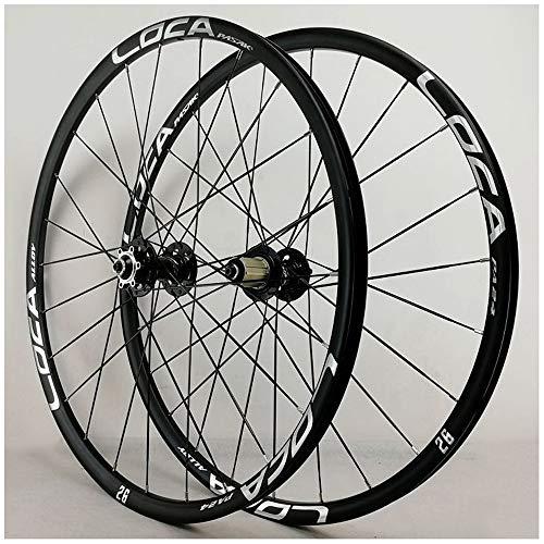 CWTC Ruedas de Bicicleta de Carreras 26 Pulgadas, Pared Doble Aluminio 27,5 En Ruedas de Ciclismo MTB Freno de Disco 24 Hoyos 7/8/9/10/11 Rueda (Size : 26inch)
