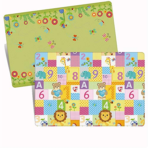 Find Bargain JIANGXIUQIN Baby Play Mat Baby Mats for Playing Or Crawling Non Play Mat Large Tummy Ti...