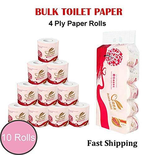 4 lagen 10rolls badkamer toiletpapier handdoeken toiletpapier toiletpapier zacht deeg zacht papier voor toiletpapier rollen wegwerp huid
