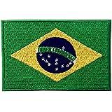Bandera de Brasil Parche Bordado de Aplicación con Plancha