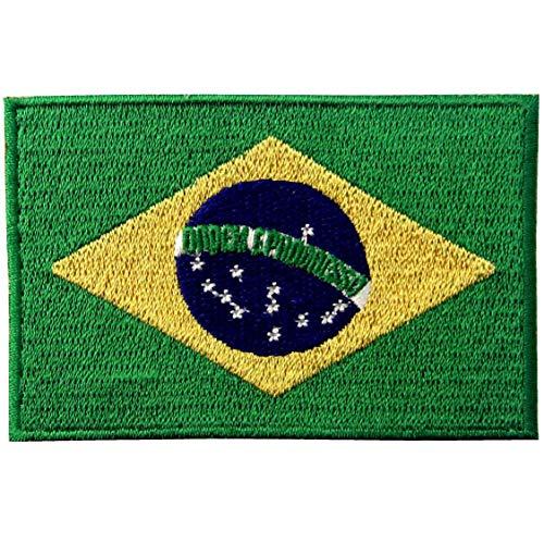 Brasilien Flagge National Bestickter Aufnäher zum Aufbügeln/Annähen