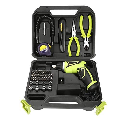 Trapano elettrico Kit trapano, 1 set 7.2V batteria ricaricabile al litio portatile avvitatore trapano avvitatore a batteria(EU plug 220V)