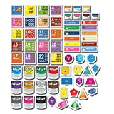 Little Champion Reader Fridge Magnets for Kids Set #3 – Colors, Shapes, Days of The Week and Months of The Year - 67 Large Fridge Magnets for Toddlers